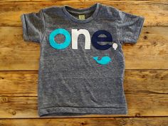 Whale Fish theme party Shirt Nautical Theme Birthday Shirt Tee on Organic blend birthday shirt customize first birthday etc. $33.00, via Etsy.