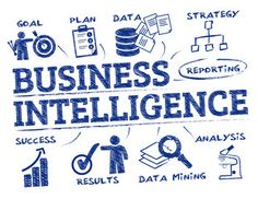 Vektor: Business intelligence concept doodle