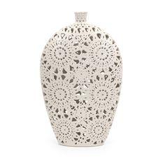 Lace Ceramic Vase - Large