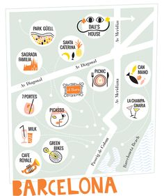 barcelona map / designlovefest