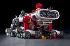 Santa's new sleigh. Lego Cars, Lego Truck, Lego Robot, Tow Truck, Legos, Technique Lego, Instructions Lego, Lego Space Sets, Lego Spaceship