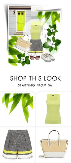 """green elegance"" by lana-drazic-posao ❤ liked on Polyvore featuring M&Co, MSGM, Kate Spade and Alexander McQueen"