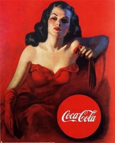 Coca - Cola - I've always loved these #vintage Cola ads. I remember admiring them as a child in various diners and restaurants growing up.