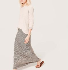 Cute neutral maxi skirt that could be worn as part of many different outfits.