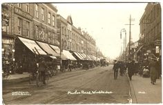 1919  WIMBLEDON  Merton Road    LONDON   Photo Postcard Vintage London, Old London, Photo Postcards, Vintage Postcards, Old Pictures, Old Photos, London Postcard, Gone With The Wind, London Photos