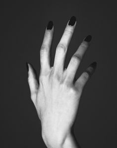 black and white hand
