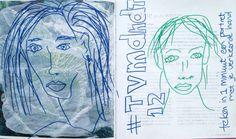 #tvmdndt 12 Teken in 1 minuut een portret met je verkeerde hand