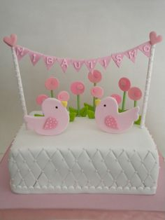 Torta Pajaritos | Flickr: Intercambio de fotos Pretty Cakes, Beautiful Cakes, Amazing Cakes, Bird Party, Birthday Cake Girls, Girl Cakes, Cakes And More, Cake Designs, Cake Pops