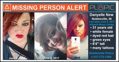 Missing from Noblesville, Indiana, 31 year old Danyelle LeAnn New | PL8PIC