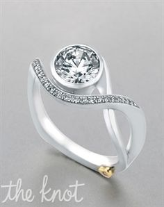 Mark Schneider Design Aurora - 17150. Modern engagement ring