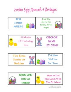 No Candy Easter Reward Printable - eventstocelebrate.net