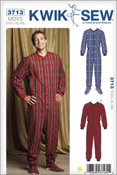 Adult Footed Pajama Sewing Pattern | Sewing patterns, I want and ...
