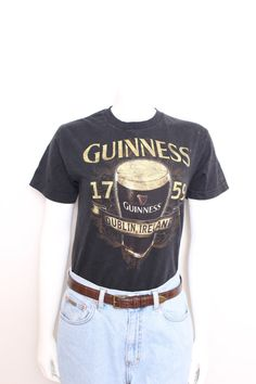 Vintage Guinness Beer Black Tee Shirt