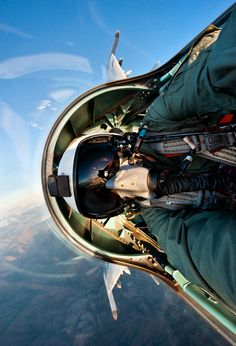 """""""Selfie"""" from the backseat of a Flanker."""