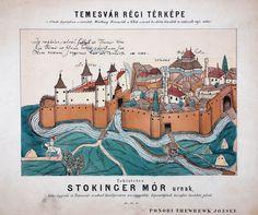 Illustration of Timisoara during the medieval era by Ponori Thewrewk József (1793-1870)