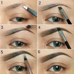 awesome Как правильно красить брови тенями? — Пошаговое фото, инструкции