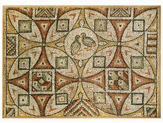Ancient Roman Art | ... BIRD / CROSS MOSAIC, 5TH - 6TH CENT. A.D. : Aphrodite Ancient Art