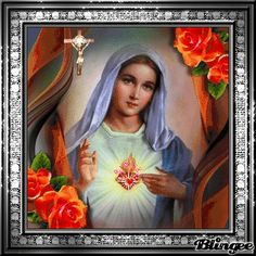 Nguoi phu nu toi tot nhat cua Inspirational Scripture Quotes, Pictures Of Jesus Christ, Heart Gif, Holy Mary, Blessed Virgin Mary, Mother Mary, Custom Photo, Madonna, Saints