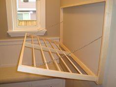 Fold away laundry rack (open)