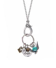 Another great find on #zulily! Silvertone Storyteller 'Faith' Pendant Necklace #zulilyfinds