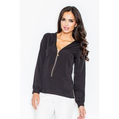 Ecru Zipper Top LAVELIQ Long sleeve top with a stunning zipper. It's a perfect match for close-fitting trousers. Athletic, Jackets, Clothes, Collection, Trendy, Zipper, Fashion, Down Jackets, Outfits