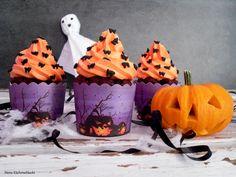 Schokoladen Kürbis Cupcakes mit Orangen-Frischkäse-Buttercreme