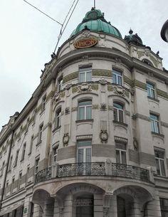 Grand Hotel Union, art nouveau architecture in Ljubljana, Slovenia