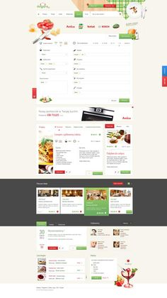 web portal with cooking recipes.