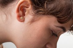 Solid Gold Earrings Solid Gold Studs Solid Gold by StudioMeme