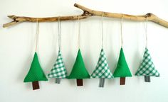 Items similar to Lovely Fabric Christmas Tree Holiday Ornaments/ Fabric Trees Home Deco - Set of 8 - Green Series on Etsy Lovely Fabric Christmas Tree Holiday Ornaments Etsy Christmas, Christmas Sewing, Christmas Love, Homemade Christmas, Diy Christmas Gifts, Holiday Ornaments, Christmas Projects, Fabric Christmas Trees, Fabric Tree