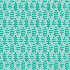Allison Cole - Happy Jungle - Ferns in Turquoise