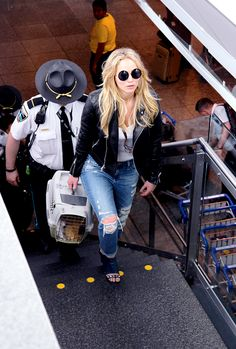 Jennifer Lawrence arriving at Montreal Airport - May 18