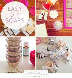 Easy DIY soaps at home - how to make handmade soaps http://www.skimbacolifestyle.com/2013/02/diy-lavender-soaps.html