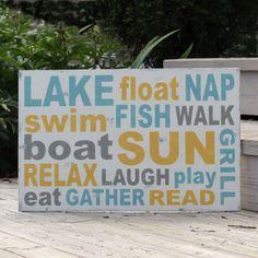 Lake Rules Wood Sign. Handpainted.. $85.00, via Etsy.