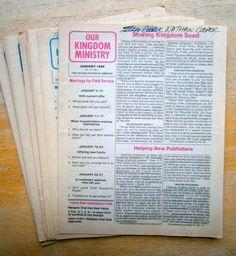 Complete set of Our Kingdom Service 1980 Watchtower IBSA N H Knorr Franz