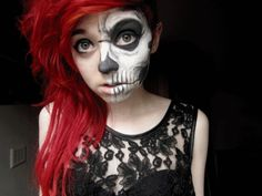 Sweet and scary Halloween makeup - this is too cool