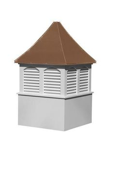 Amish Made Vinyl Elite Cupola Grace any rooftop with a custom cupola. Choose color, add weathervane, choose windows and much more! #cupola #outdoordecor