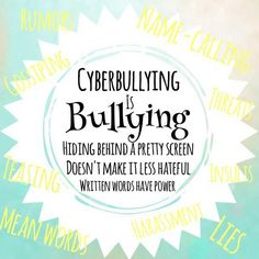 To actually prevent cyberbullying, you need to know the definition. This is helpful because most people don't know so, knowing the defintion they can help people are being bullied. Bullying Quotes, Stop Bullying, Anti Bullying, Cyber Bullying, Bullying Stories, Bullying Posters, High School Counseling, School Counselor, Teaching Time