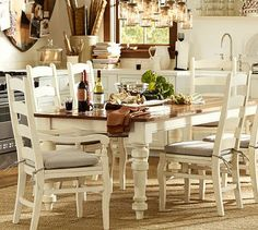 GREAT table! Keaton Extending Dining Table - French White #potterybarn