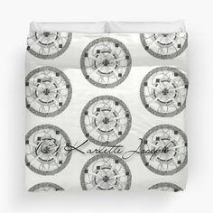 Maya Mandala Duvet  Available in Twin, Queen and King size.  http://www.redbubble.com/people/karlettejoseph/works/22759062-maya-mandala?p=duvet-cover&size=king  #duvet #mandala #blackandwhite #art