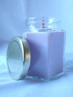 Eucalyptus Lavender Wood Wick Candle in Jar 6 by CherryOakCandles