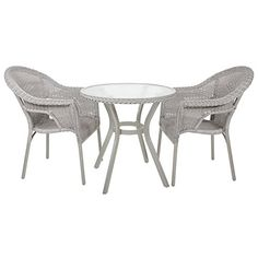 Dine al-fresco this summer time with the Havana bistro set. It includes a… Furniture For You, Table Furniture, Outdoor Furniture, Outdoor Tables, Outdoor Decor, Bistro Set, Table And Chair Sets, Havana