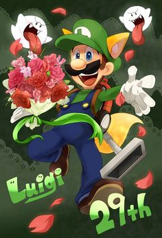 LUIGI: Um, go you Boos! BOO: God Luigi, you are really mad sometimes! LUIGI: Why am I in a fox suit? Super Mario Brothers, Super Mario And Luigi, Super Mario Art, Super Mario World, Nintendo Game, Nintendo World, Princesa Daisy, Luigi And Daisy, Mario Fan Art