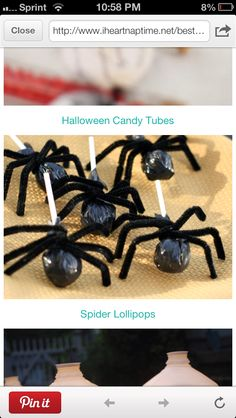 spooky creepy lollies perfect for halloween class treats