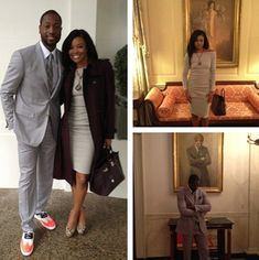 Dwyane Wade & Gabrielle Union @ The White House. Dwyane Wade Gabrielle Union, Nba Fashion, Celebrities Then And Now, Love And Basketball, Love Her Style, Cute Couples, Power Couples, Beautiful Family, Black Love