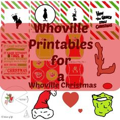 Whoville printables for a Christmas Party More The perfect Whoville Party for the christmas season with Grinch inspired treats. Whoville printables,and grinch oreo truffles will all be a hit School Christmas Party, Grinch Christmas Party, Office Christmas, Noel Christmas, Xmas Party, Christmas Crafts, Family Christmas, Christmas Ideas, Christmas Games