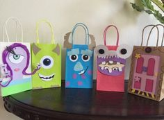 Monster Inc Favor Bags  by Mariflorhez on Etsy https://www.etsy.com/listing/228428639/monster-inc-favor-bags