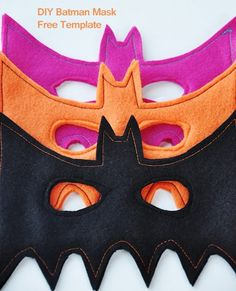 DIY Batman Masks :: Free Template