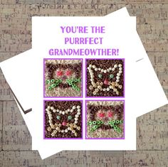 Funny Mothers Day Card Funny Cat Card Grandma by WhatACardCards