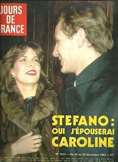 Jours de France N°1512 Caroline Monaco Stefano  1983